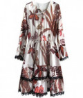 Dámske šifonové šaty MODA452 ecru