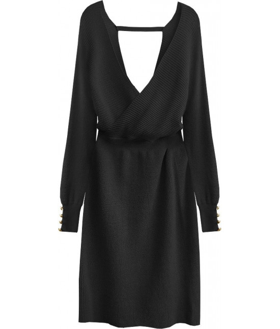 Dámske pletené šaty MODA457 čierne