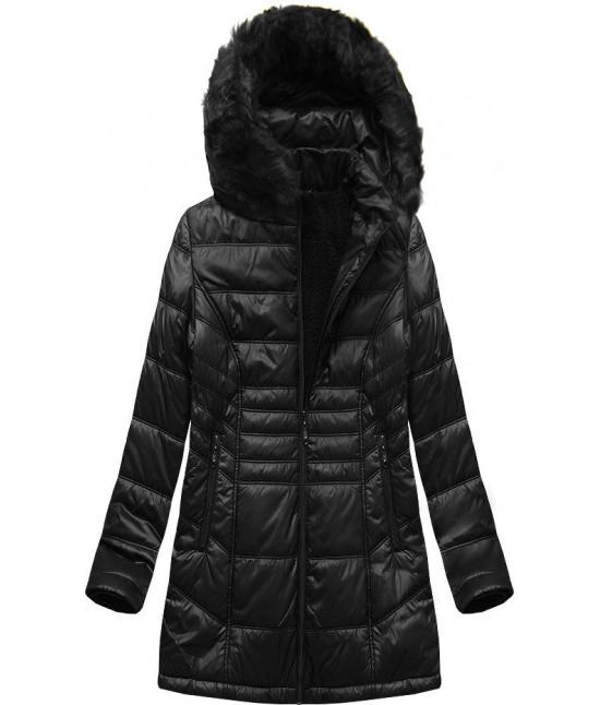 Prešívaná dámska zimná bunda MODA2617 čierna