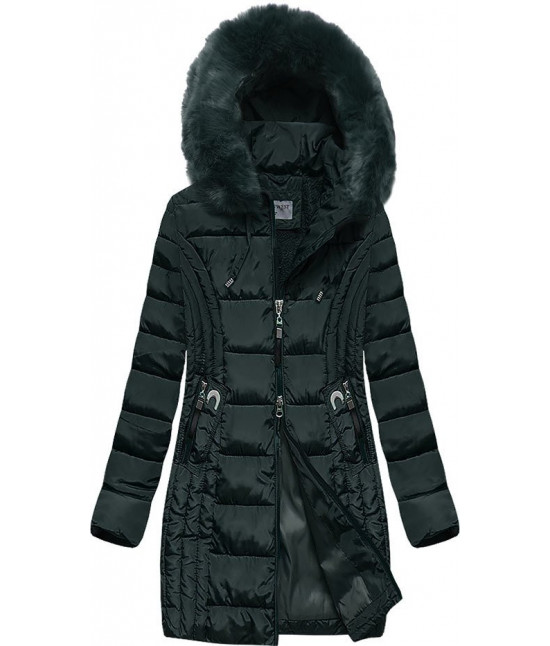 Prešívaná dámska zimná bunda MODA2620BIG zelená