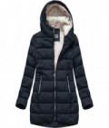 Prešívaná dámska zimná bunda MODA642 modrá