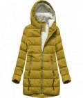 Prešívaná dámska zimná bunda MODA642 žltá