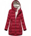 Prešívaná dámska zimná bunda MODA642 červená