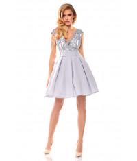 Dámske spoločenské šaty MODA139 šedé