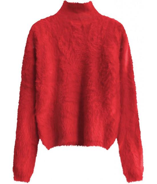 Krátky dámsky sveter MODA466 červený