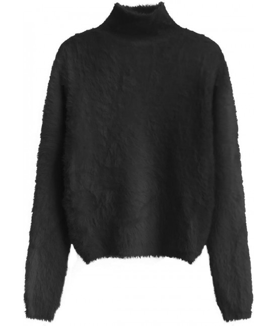 Krátky dámsky sveter MODA466 čierny