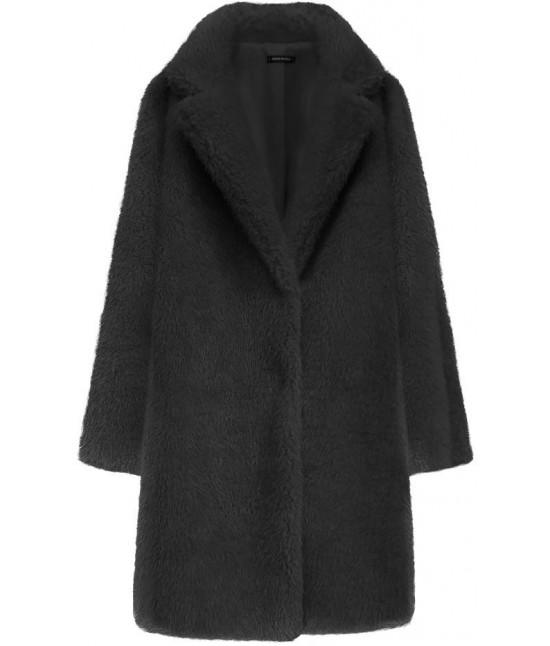 Dámsky kožušinový kabát MODA461 čierny