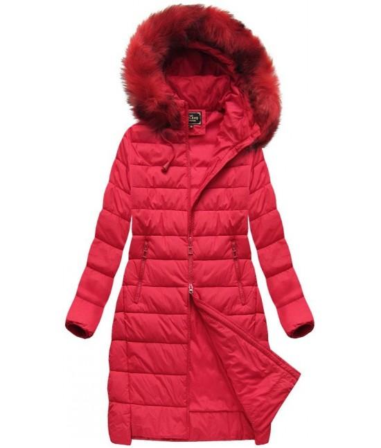 Dámska zimná bunda MODA754BIG červená 3XL