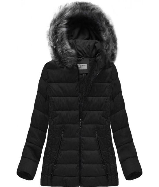 Prešívaná dámska zimná bunda MODA505 čierna 48