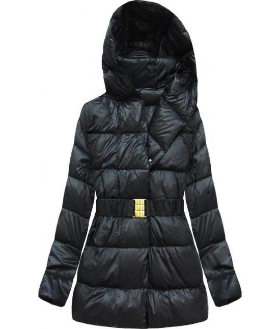 Prešívaná dámska bunda MODA045 čierna veľkosť L