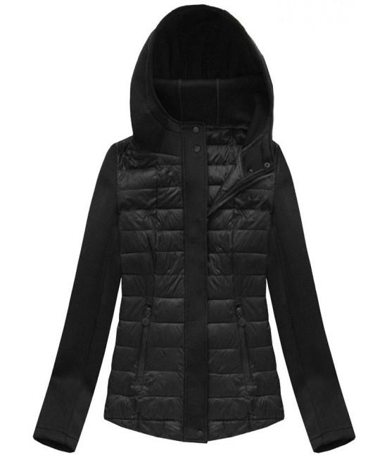 Dámska jarná bunda MODA062 čierna veľkosť XXL