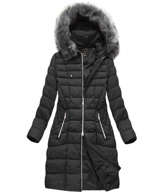 Dámska zimná bunda MODA710BIG čierna 48