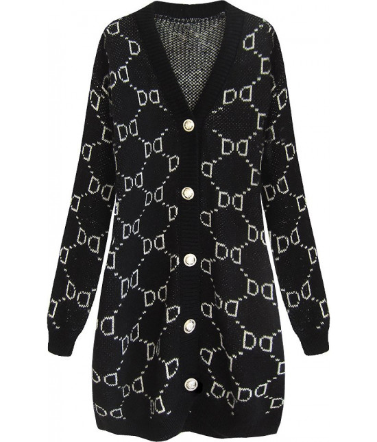 Elegantný sveter oversize MODA465 čierny