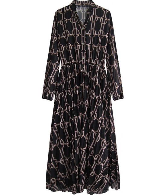 Šifónové dámske šaty MODA462 čierne