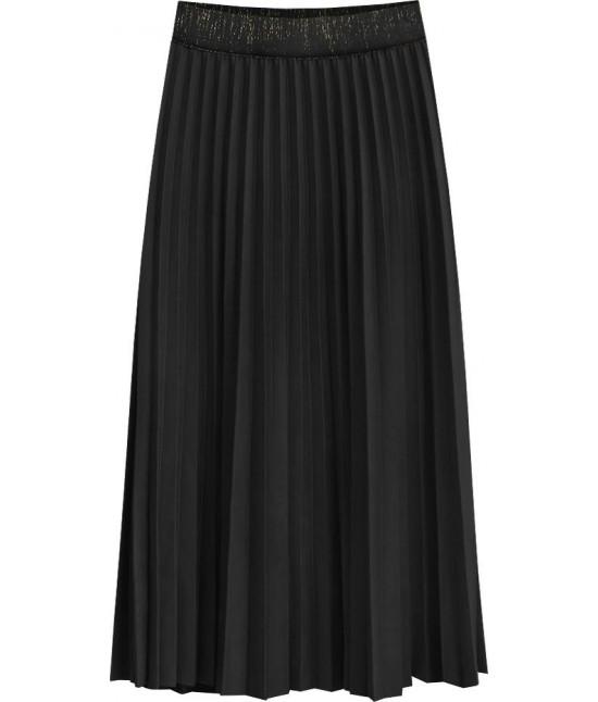 Dámska plisovaná sukňa MODA464 čierna