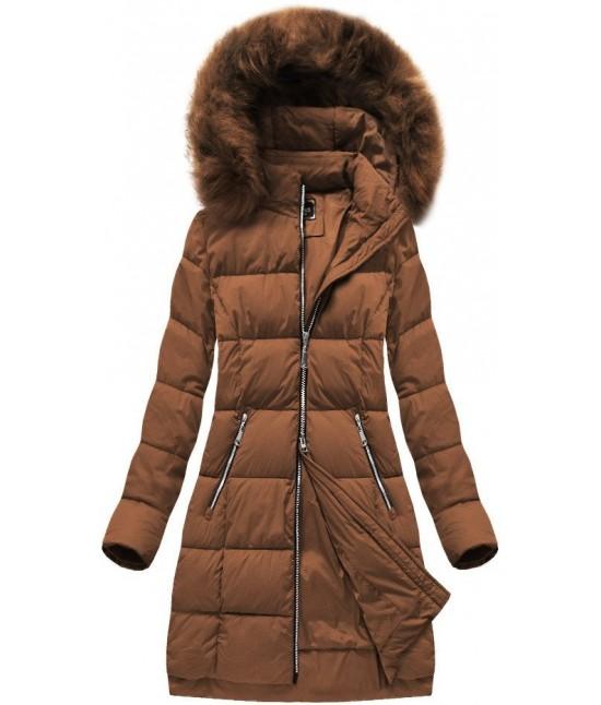 Dámska zimná bunda MODA702 hnedá XL