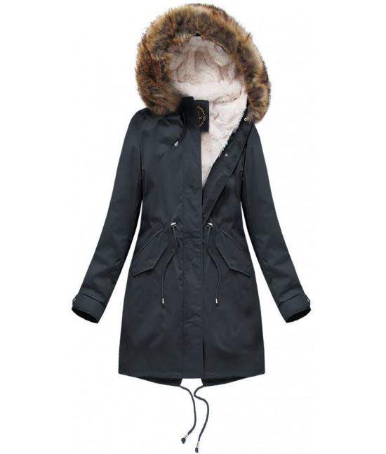Dámska zimná bunda MODA7600BIG tmavomodrá