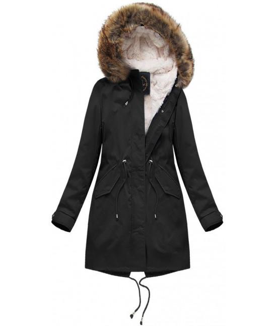 Dámska zimná bunda MODA7600BIG čierna