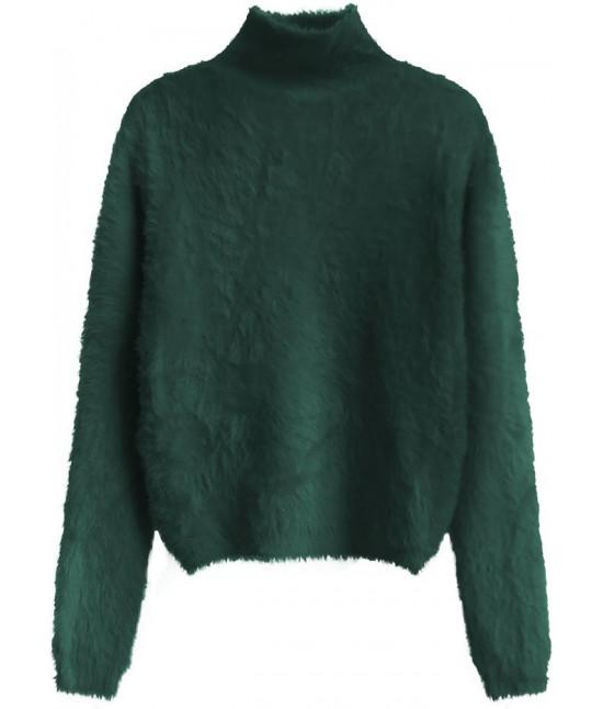 Krátky dámsky sveter MODA466 zelený UNI