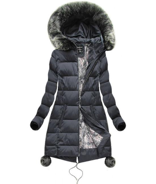 Dámska zimná bunda MODA739 tmavošedá veľkosť 7XL