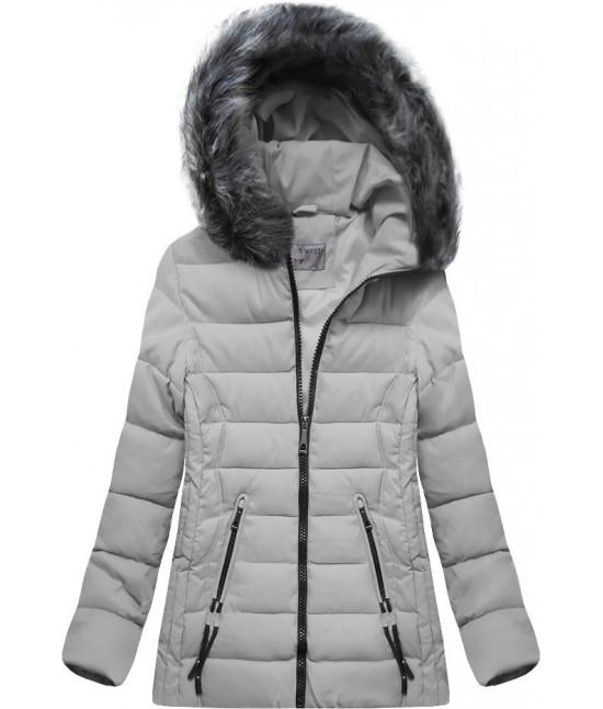 Dámska zimná bunda MODA503 šedá