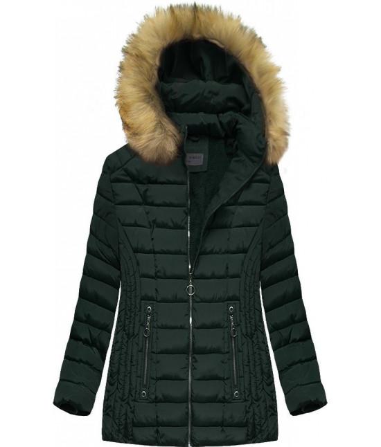 Dámska zimná bunda MODA2630 tmavozelená