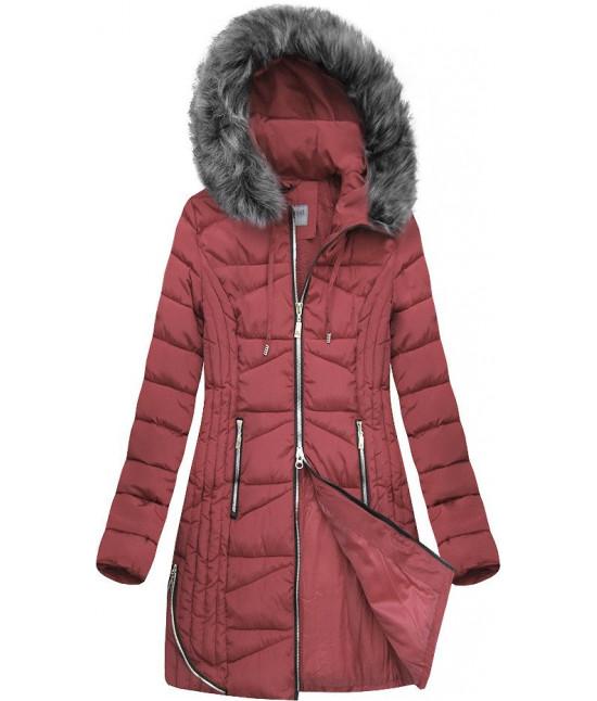 Dámska zimná bunda MODA632 ružová