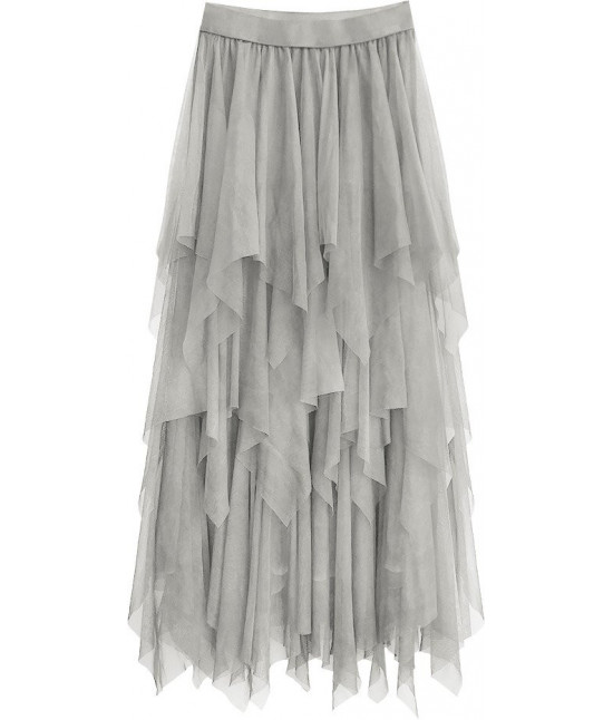 Dámska sukňa o dĺžke maxi MODA479 šedá