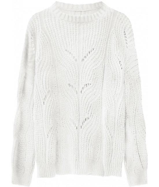 Mäkký dámsky sveter MODA495 ecru