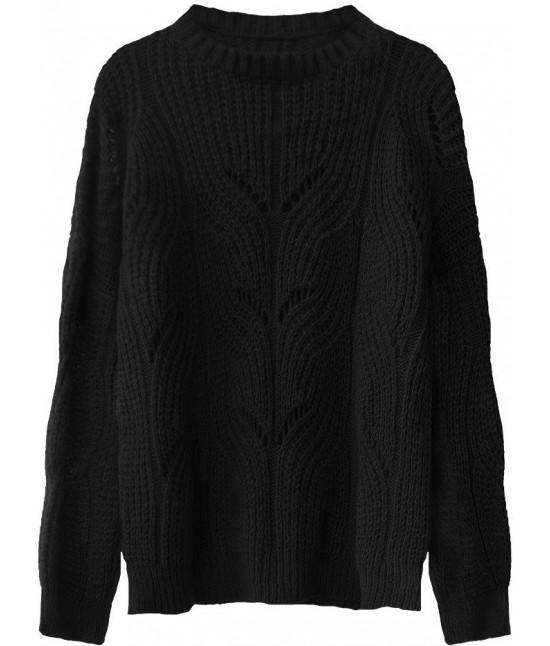 Mäkký dámsky sveter MODA495 čierny
