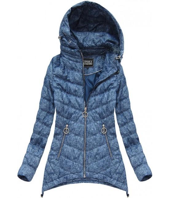 Dámska prechodná bunda w714BIG modrá 4XL