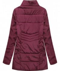 Dámska jesenná bunda MODA626BIG bordová
