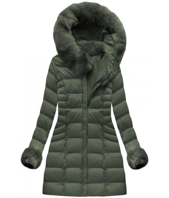 Dámska zimná bunda MODA751BIG khaki veľkosť 7XL