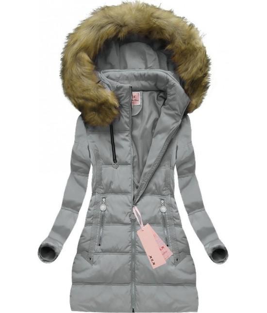 Dámska zimná bunda MODA716 šedá 642b79e5bba