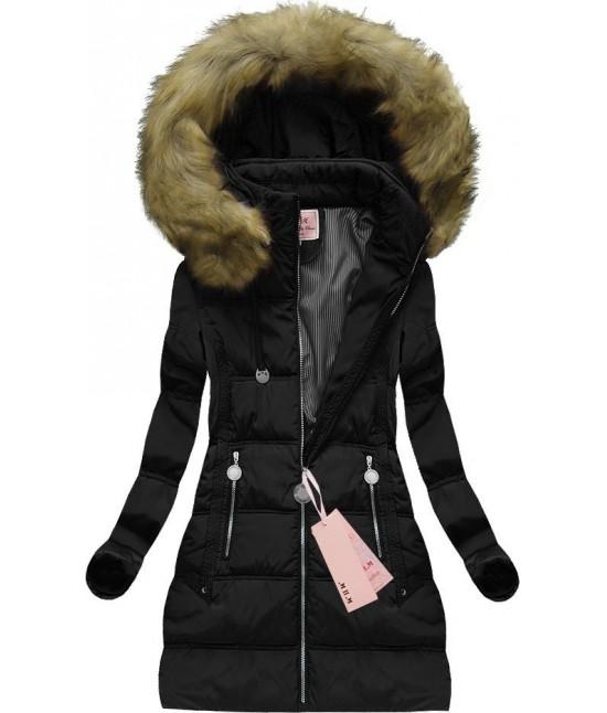 Dámska zimná bunda MODA716 čierna - Dámske oblečenie  13c81b479df