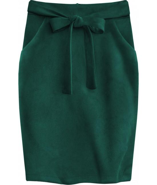 Dámska pencil sukňa s vreckami MODA505 zelená
