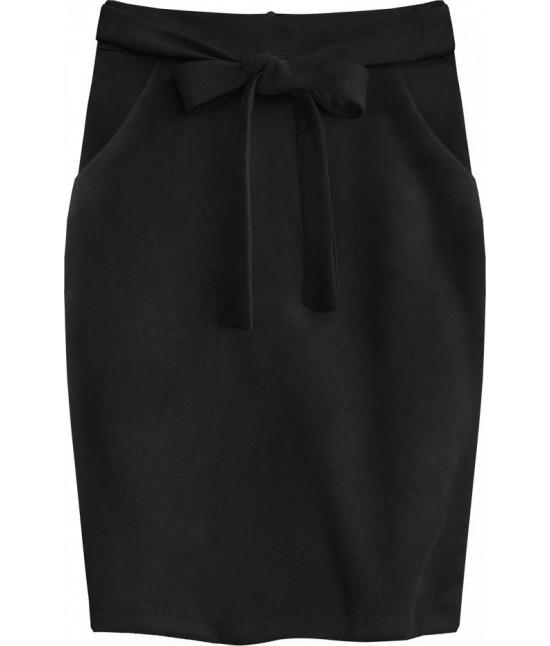 Dámska pencil sukňa s vreckami MODA505 čierna