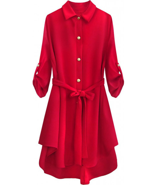 Dlhá dámska košeľa MODA512 červená