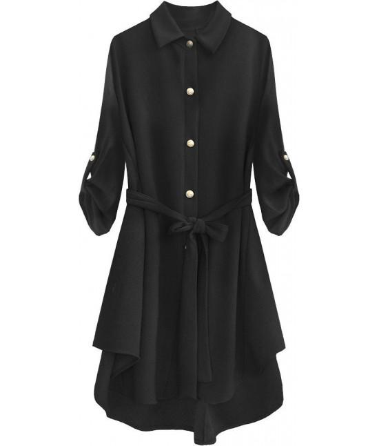 Dlhá dámska košeľa MODA512 čierna