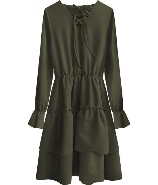 Dámske šaty MODA511 khaki