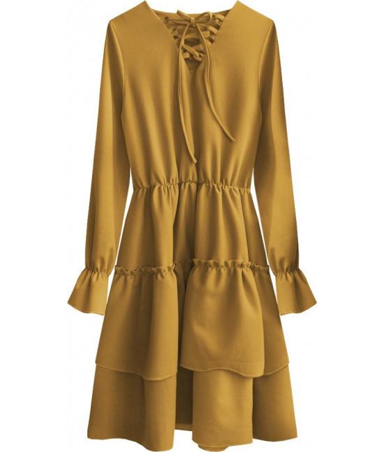 Dámske šaty MODA511 žlté