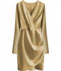Dámske šaty MODA509 zlaté
