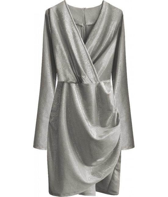 Dámske šaty MODA509 strieborné