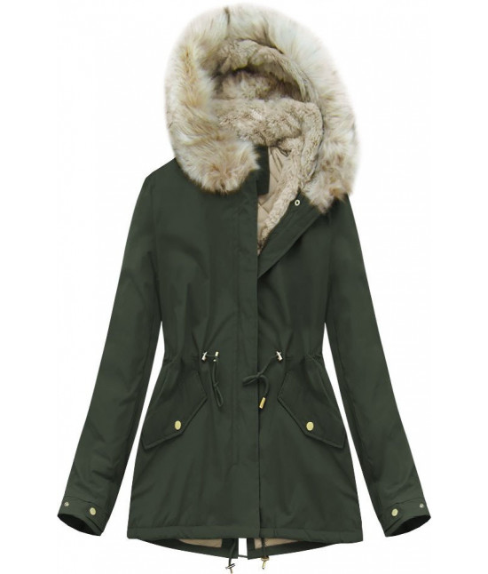 Dámska zimná bunda MODA648 army S