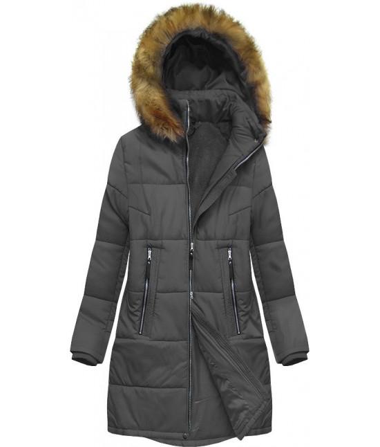 Dámska zimná bunda MODA627BIG šedá 3XL