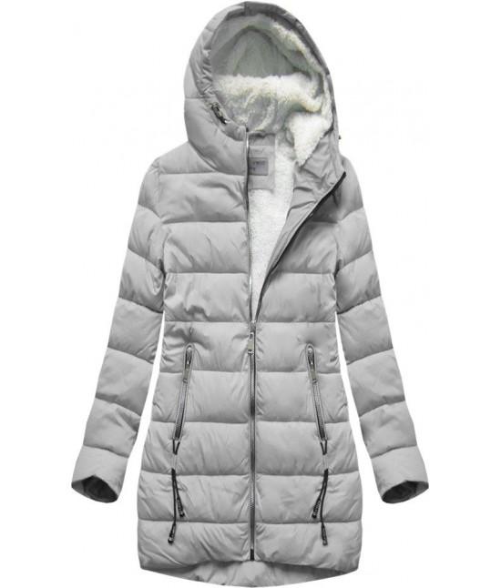 Prešívaná dámska zimná bunda MODA642 šedá