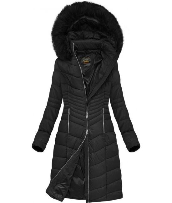 Prešívaná dámska zimná bunda MODA762BIG čierna