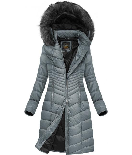 Prešívaná dámska zimná bunda MODA762BIG šedá