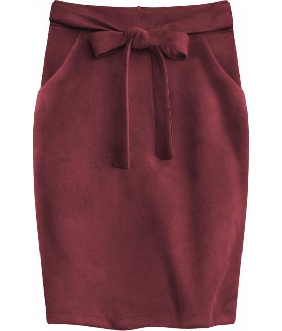 Dámska sukňa s vreckami MODA505 bordová