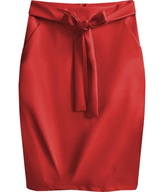 Dámska sukňa z eko-kože MODA528 červené